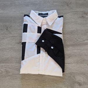 Men's West St. Haku B/W Contrasting Shirt SZ 3XL